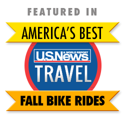 Featured in U.S. News & World Report's America's Best Fall Bike Ride 2014