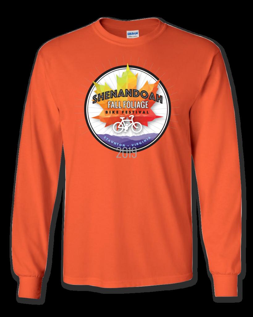 Fall Foliage Bike Festival 2019 long sleeve T-shirt